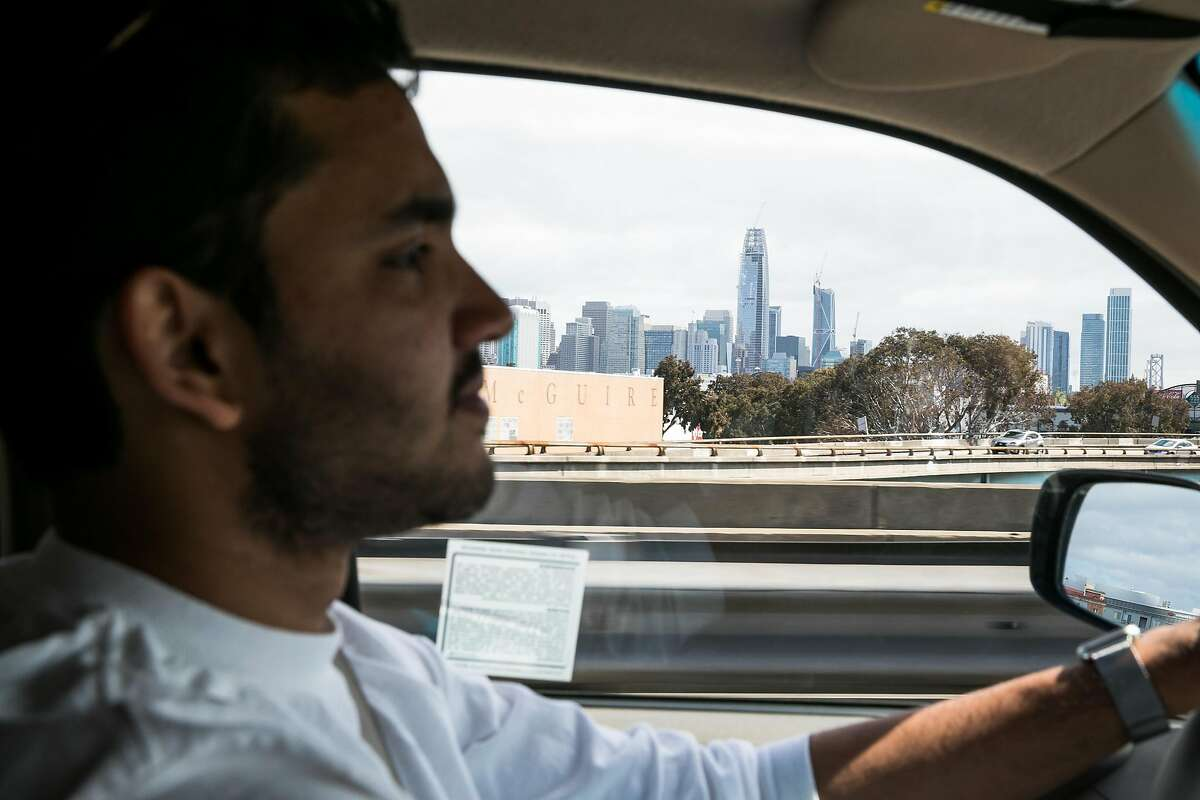 CEO and co-founder of MoveButter, Chai Mishra, drives to his next location for a delivery in San Francisco, Calif. Monday, June 12, 2017.