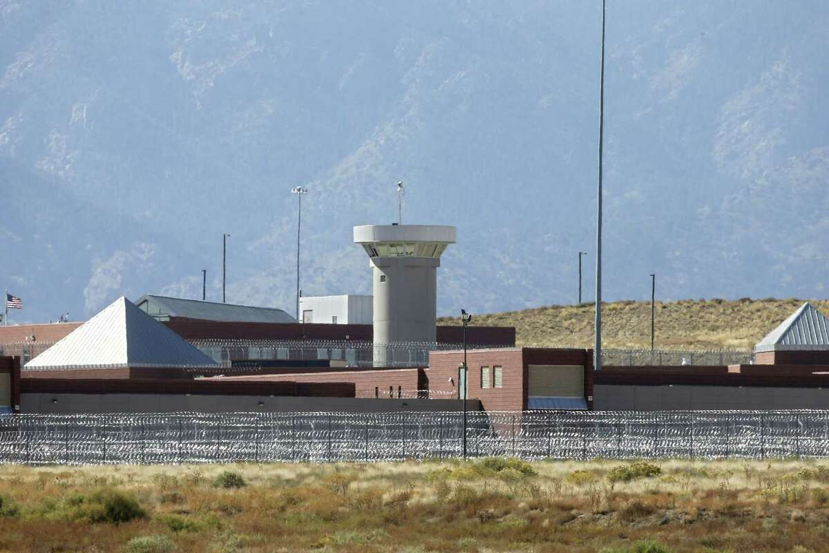 FILE - In this Oct. 15, 2015 file photo, a guard tower looms over a federal prison complex which houses a Supermax facility outside Florence, in southern Colorado. Attorney General Jeff Sessions has directed the nationÂ?'s federal prosecutors to pursue the most serious charges possible against the vast majority of suspects, a reversal of Obama-era policies that is sure to send more people to prison and for far longer terms. The move, announced in a policy memo sent to U.S. attorneys late on May 10, had been expected from Sessions. (AP Photo/Brennan Linsley,File)