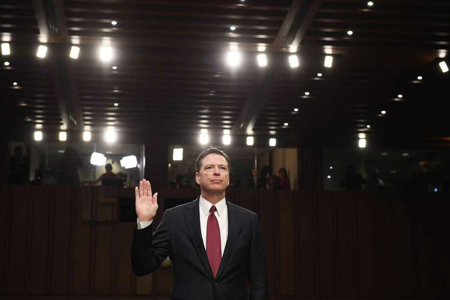 Former FBI Director James Comey appears before the Senate Intelligence Committee. His account of meetings with President Trump are more than about legalities — it about different moral compasses. Photo: Matt McClain /The Washington Post / The Washington Post