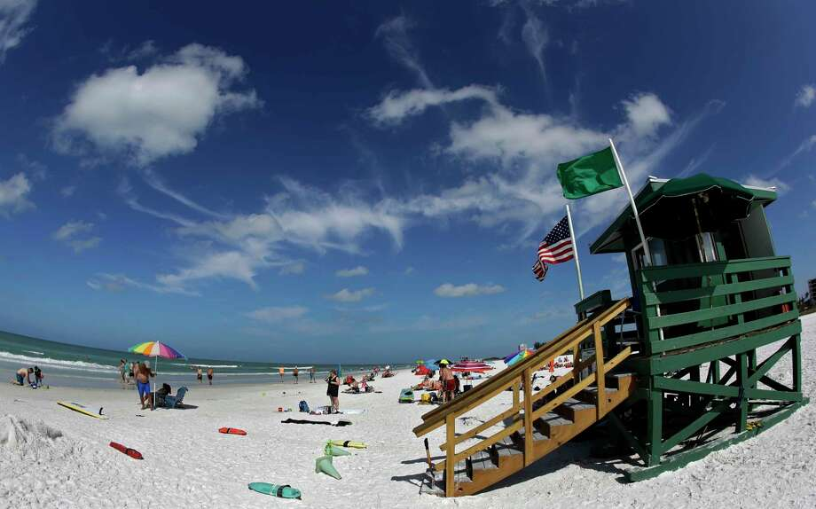 Siesta Beach on Siesta Key in Sarasota, Fla., is No. 1 on the list of best beaches for the summer of 2017. Its soft sand is mostly made of crushed quartz. Photo: Chris O'Meara, STF / Copyright 2017 The Associated Press. All rights reserved.