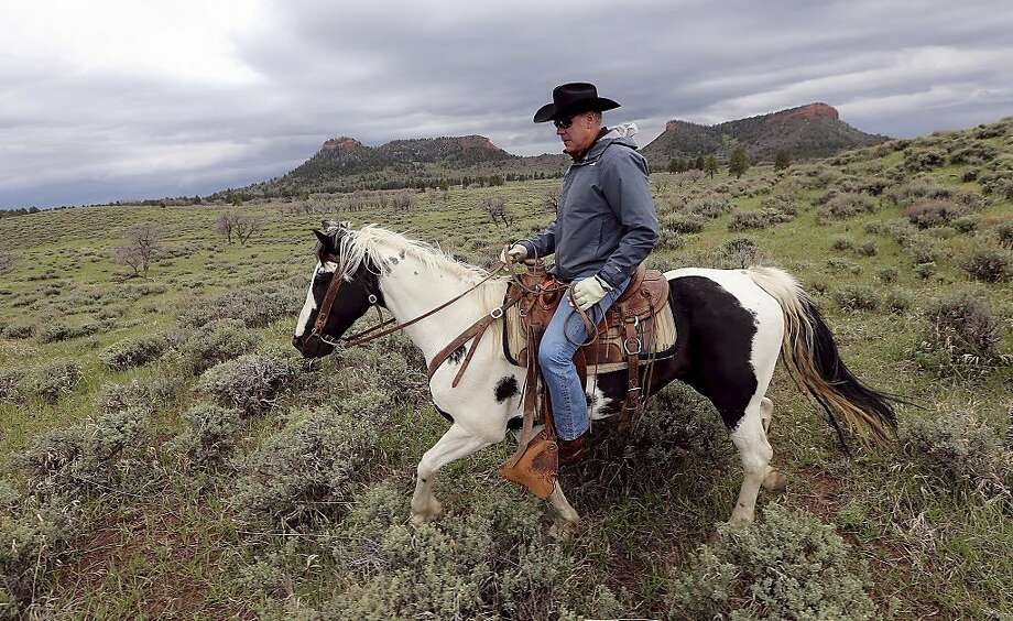 The horse he rode in on: Interior Secretary Ryan Zinke has drawn attention in many ways, not least his modes of transportation. Photo: Scott G Winterton, Associated Press