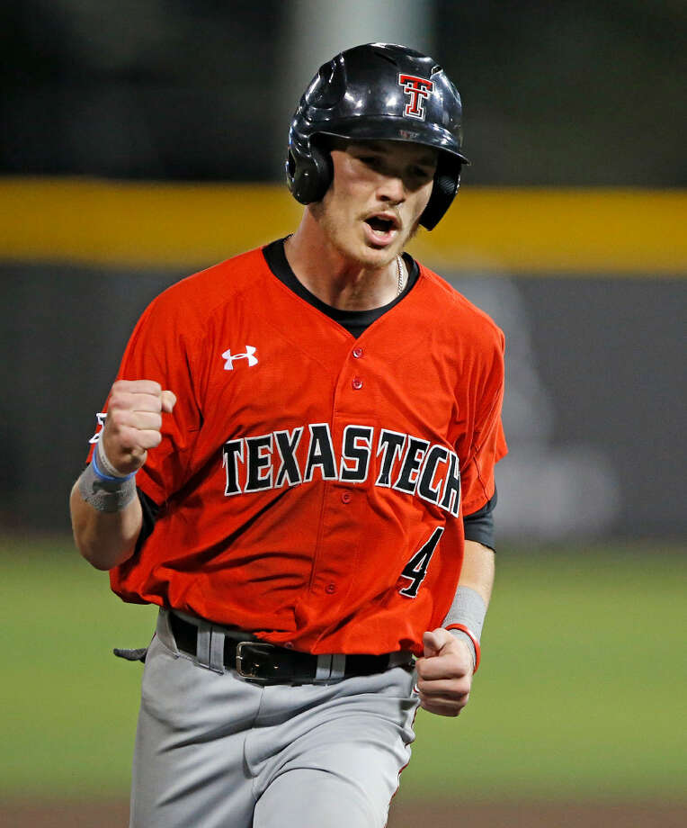3 of 638 NCAA Texas Tech Sam Houston St Baseball Texas Tech's Grant Little celebrates after watching Tanner Gardner hit a home run against Sam Houston State during an NCAA college baseball tournament regional game Saturday, June 3, 2017, in Lubbock, Texas. (Brad Tollefson/Lubbock Avalanche-Journal via AP)