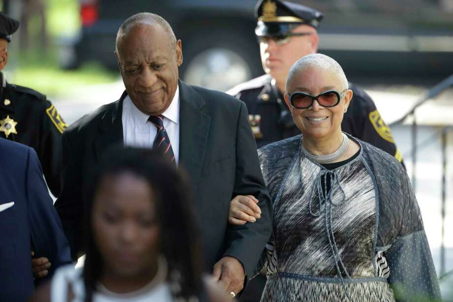 Bill Cosby arrives for his sexual assault trial with his wife Camille Cosby, right, at the Montgomery County Courthouse in Norristown, Pa., Monday, June 12, 2017. (AP Photo/Matt Rourke) Photo: Matt Rourke, STF / Copyright 2017 The Associated Press. All rights reserved.
