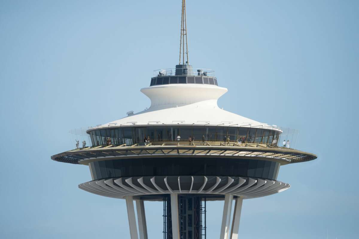 Before: An exterior shot of the Space Needle. The Space Needle announced details of a $100 million renovation Monday, June 12, 2017.