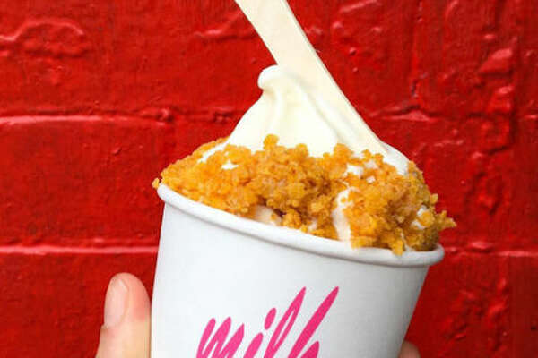 Milk Bar Location: Manhattan and Brooklyn Milk Bar has been the talk of the town, and for good reason. The cereal milk soft serve -or fruity cereal milk soft serve for those Fruity Pebble fans - is delicious and tastes just like you were drinking the milk out of your finished cereal bowl. If you're not in the mood for ice cream, try the Crack Pie (toasted oat crust with a gooey butter filling). You'll get addicted.