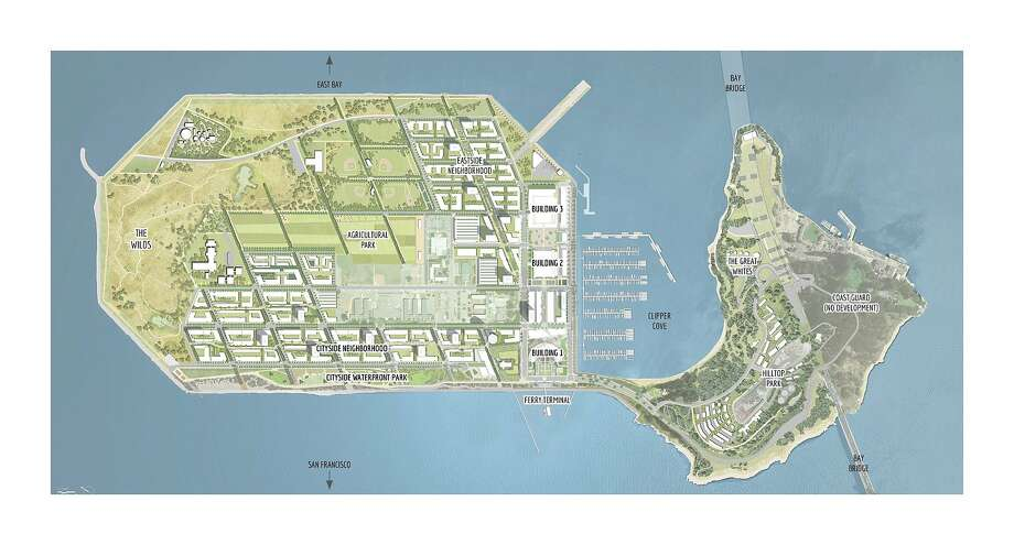 Architects' plan for the new Treasure Island development Photo: Treasure Island Community Development/CMG Landscape Architecture