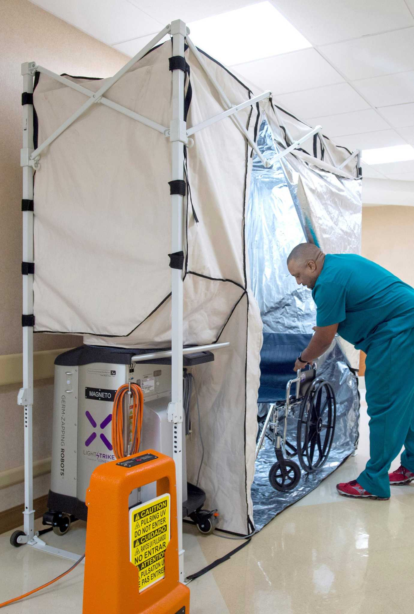Xenex rolls out new disinfection pod for hospital equipment san xenex rolls out new disinfection pod for hospital equipment san antonio express news ccuart Choice Image