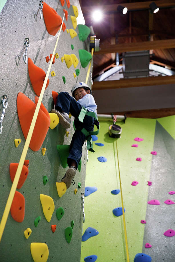 1st public rock climbing wall unveiled at renovated Glen ...