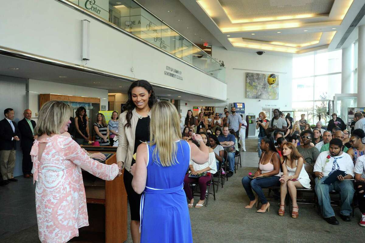 Photos from the Alternative Routes to Success graduation ceremony in Government Center in Stamford, Conn. on Monday, June 12, 2017.
