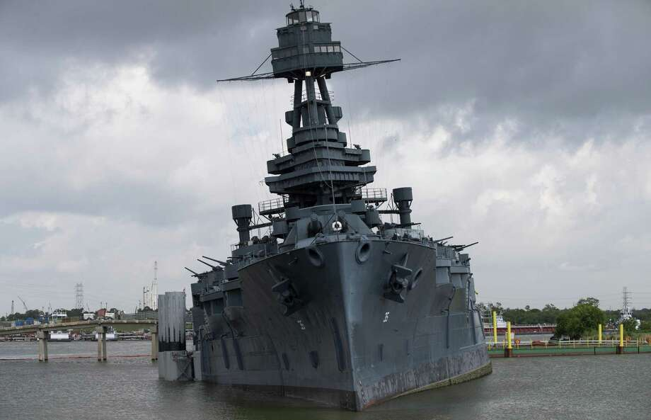 Texas Parks and Wildlife Department officials have closed Battleship Texas after a leak in the vessel allowed water to gush in, ripping a hole in the boat and causing it to tilt 8 degrees to one side. Photo: Godofredo A. Vasquez /Houston Chronicle / Godofredo A. Vasquez