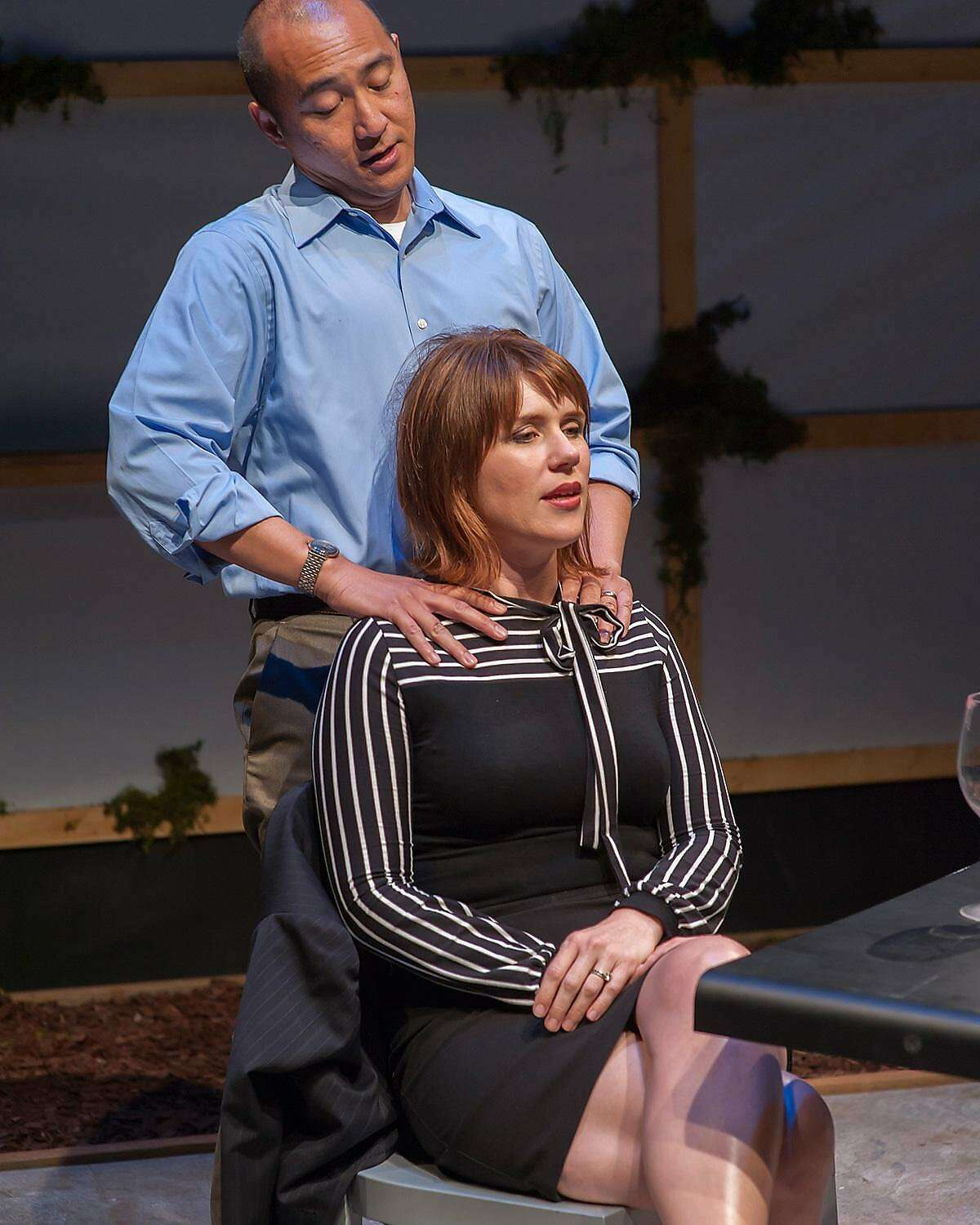 From left:�Don Castro as Daniel and Lauren English as Lindsey in San Francisco Playhouse�s