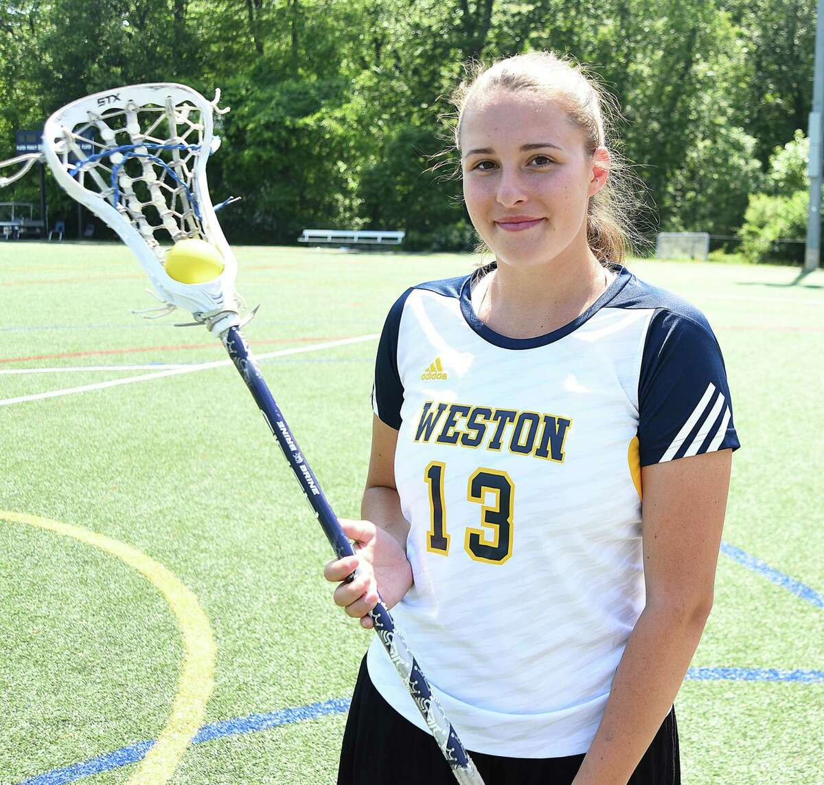 Taylor Moore of Weston recently wrapped up her career as the school's all-time leading scorer. She also led the Trojans to the SWC and Class S runner-up positions in her final season as a Trojan.