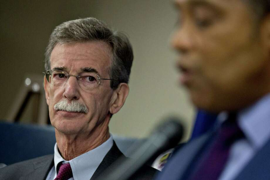 Brian Frosh, Maryland attorney general, listens during a news conference in Washington, D.C., U.S., on Monday, June 12, 2017. President Donald Trump's continued financial stake in his global business empire, violates the U.S. Constitution's prohibition on profiting from his office, Maryland and the District of Columbia said in a federal lawsuit. Photographer: Andrew Harrer/Bloomberg Photo: Andrew Harrer / © 2017 Bloomberg Finance LP