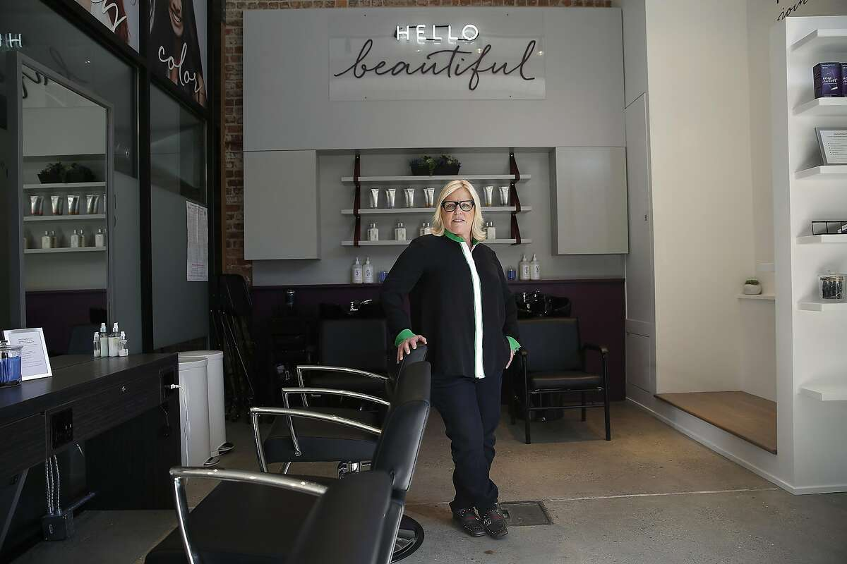 CEO and founder Amy Errett of Madison Reed opens a �Color Bar� in the Mission where women can utilize their dye system for root touch-ups on Monday, June 12, 2017, in San Francisco, Calif.
