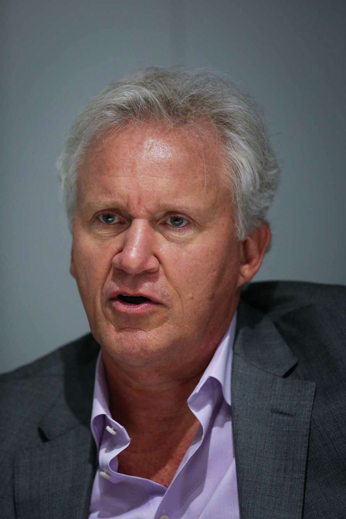 General Electric CEO Jeff Immelt gives an interview during the GE Minds & Machines conference, in San Francisco, California, on Tuesday, Nov. 15, 2016.