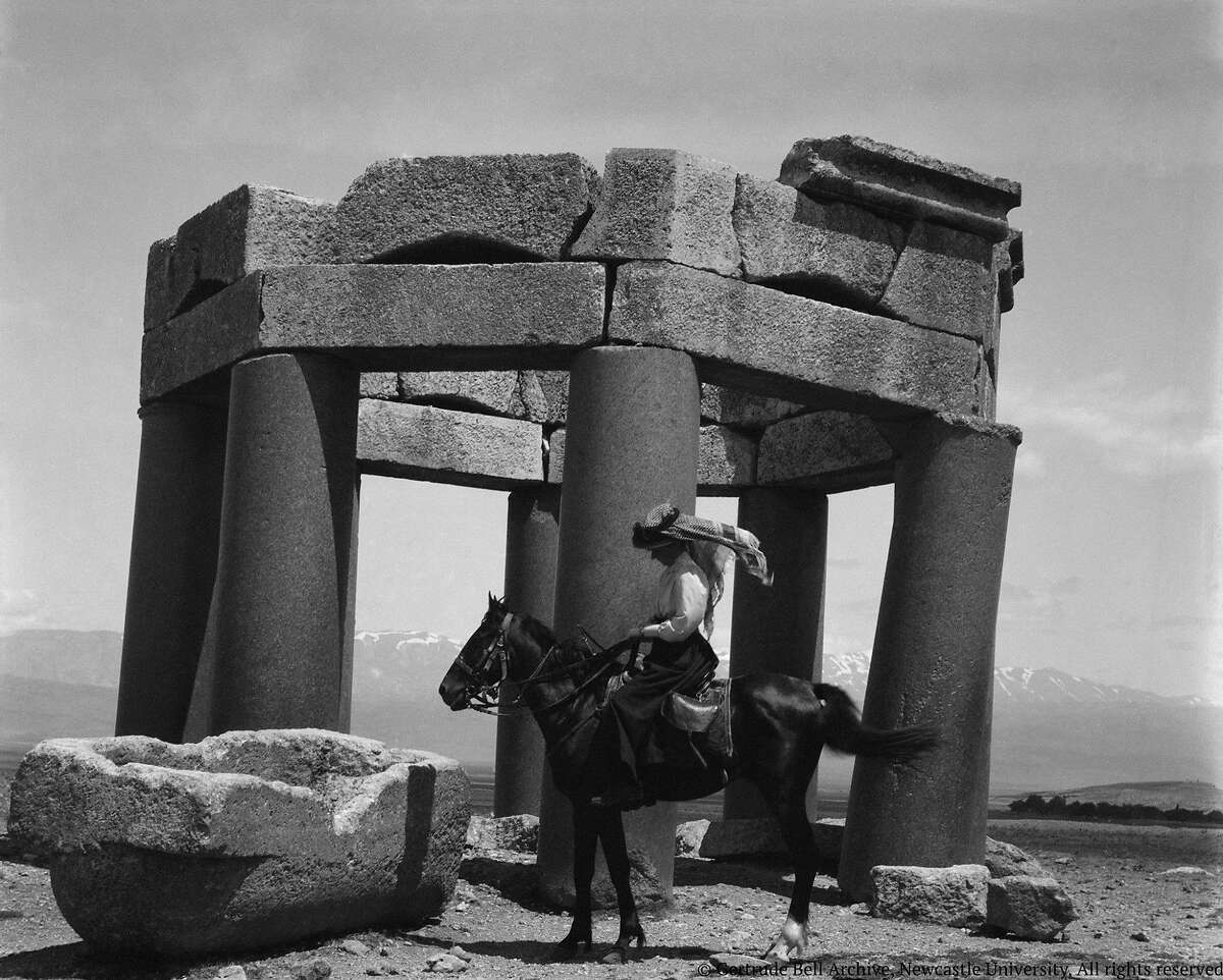 Gertrude Bell in the desert circa 1900-1902 in the documentary