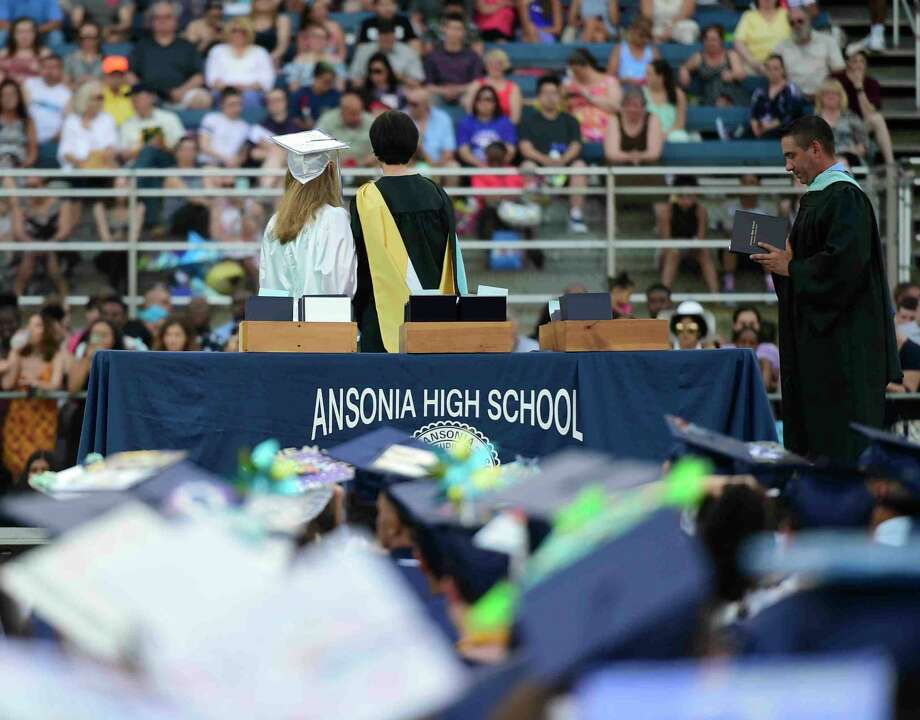 The Ansonia High School Class of 2017 Commencement exercises were held at Jarvis Field in Ansonia, Conn. on Monday, June 12, 2017. Photo: Peter Hvizdak, Hearst Connecticut Media / Connecticut Post