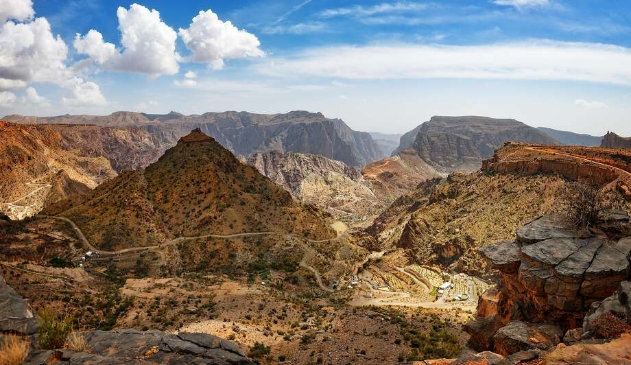 The Jebel Akhdar is a portion of the Al Hajar mountain range that separates the country's northern coast from its desert interior. Photo: Emad Aljumah, Getty Images