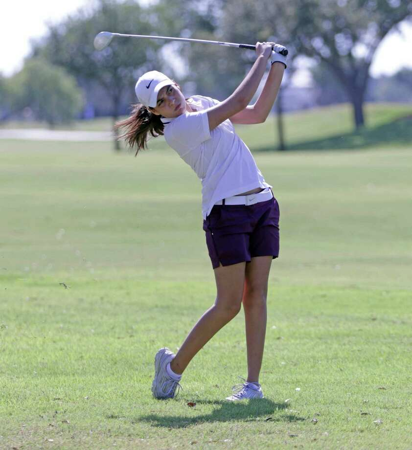 Former St. Augustine golfer, Kristina Gutierrez won the Mercedes-Benz of Laredo Junior Championship at the Laredo Country Club Monday afternoon in the 16-18 year old girl's division. Photo: Clara Sandoval /Laredo Morning Times