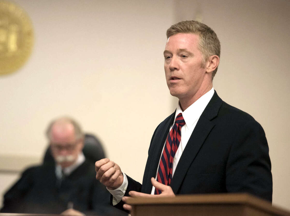 Former Albany County prosecutor Eric Galarneau - shown here addressing the jury in Washington County Court during the murder trial of Matthew Slocum - will serve as a city court judge in Cohoes. (Pool photo, Shawn LaChapelle/The Post-Star)