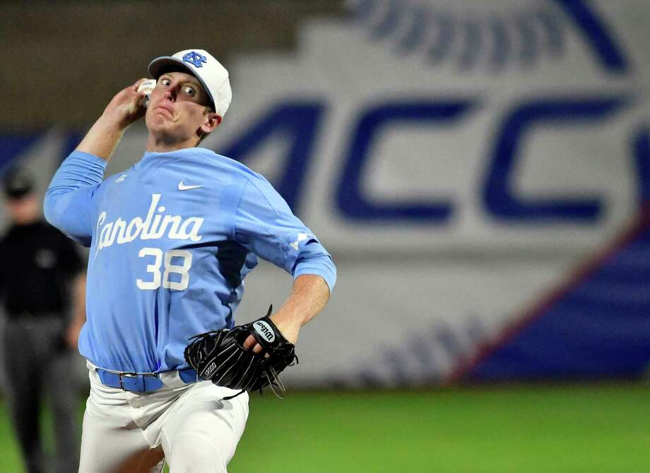 North Carolina righthander J.B. Bukauskas will trade in his Tar Heels blue for the uniform of an Astros minor league affiliate if he signs. Photo: Timothy D. Easley, HONS / theACC.com