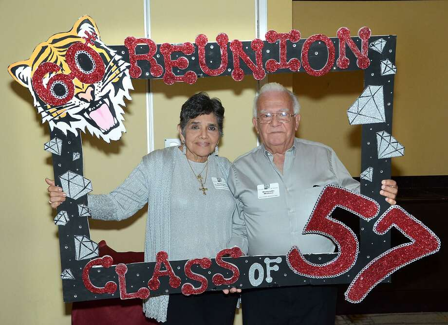 Yolanda Vasquez Padilla and Rosendo Molina were among those attending the 60th class reunion for the Martin High School Class of 1957, Saturday at Embassy Suites. Photo: Cuate Santos /Laredo Morning Times / Laredo Morning Times