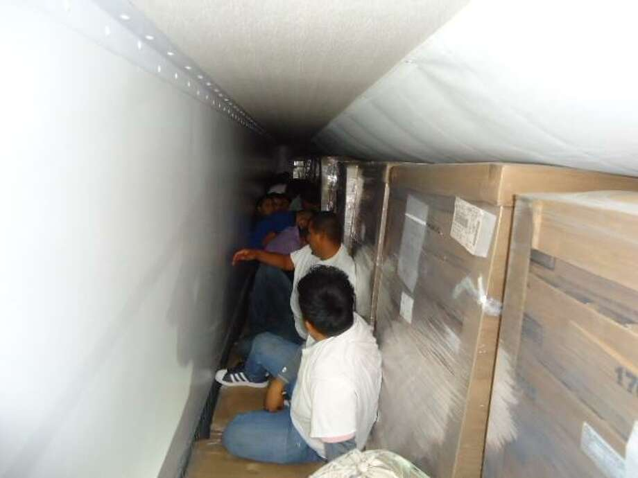 59 immigrants who entered the country illegally were rescued by Border Patrol at the I-35 checkpoint. Photo: Courtesy