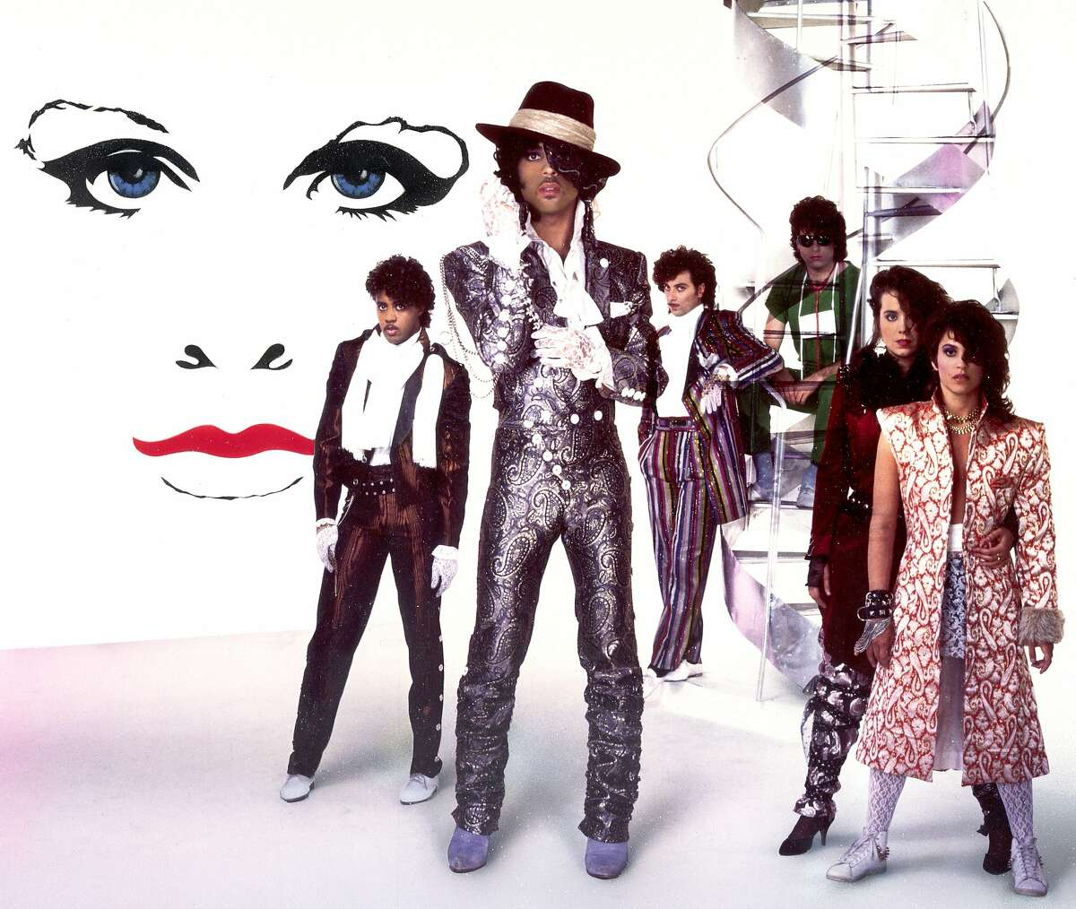 Band photo of Prince and The Revolution during their '80s heyday