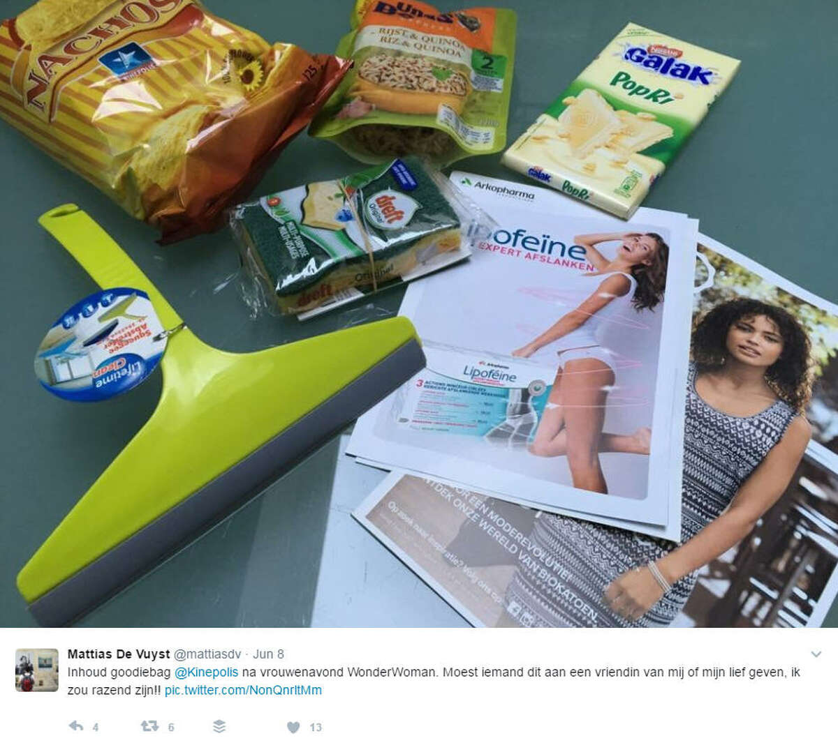 A theater in Belgium gave away goodie bags at their women-only screening of