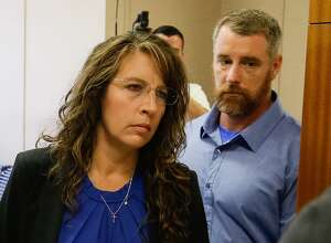 Harris County Sheriff's deputy Chauna Thompson and her husband, Terry Thompson, arrive to court, Tuesday, June 13, 2017. The couple was indicted on murder charges in the death of John Hernandez who died  in the hospital on May 31 following the May 28 confrontation with the couple outside a Denny's restaurant. A medical examiner ruled that he died of lack of oxygen to the brain caused by strangulation and chest compression.