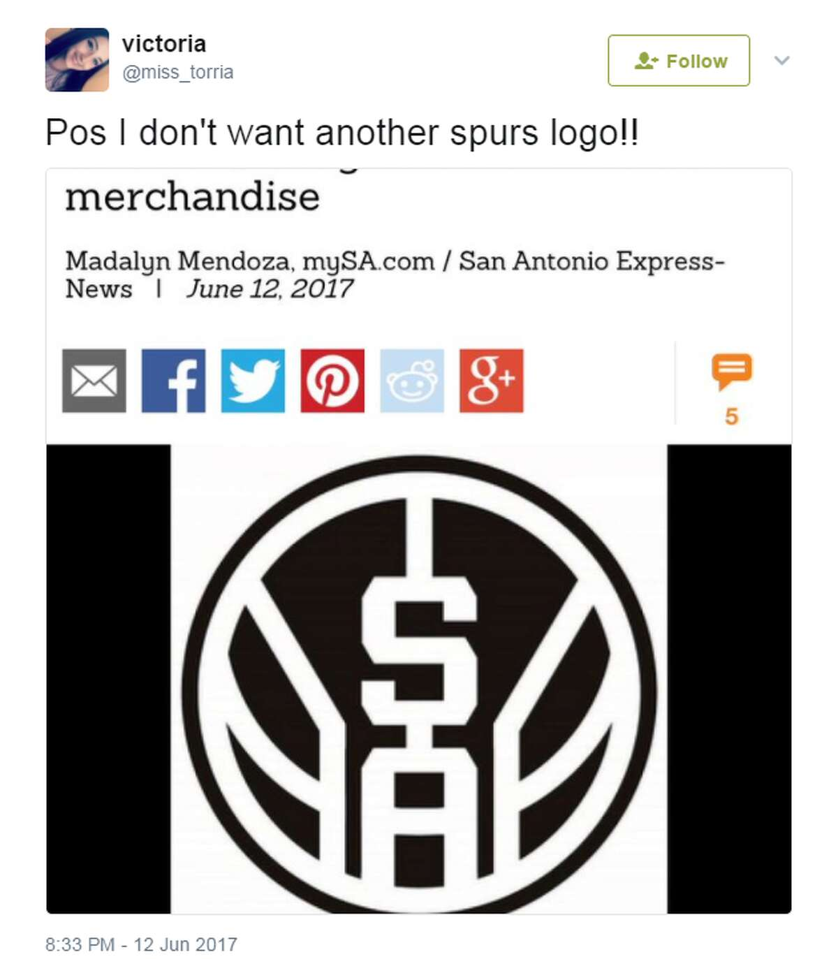 @miss_torria: Pos I don't want another spurs logo!!