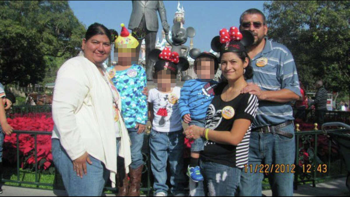 Abigail Alvarado (front right) says the years she spent with the Castillos were marked by brainwashing, manipulation, stalking, assault and horror. Rape, lies and threats were part of her daily routine, and she says the only reasons she didn't hurt herself or someone else were her children, who were born out of the abuse.