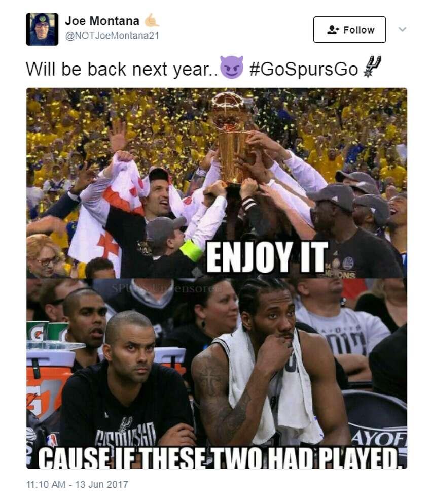 @NOTJoeMontana21: Will be back next year.. #GoSpursGo