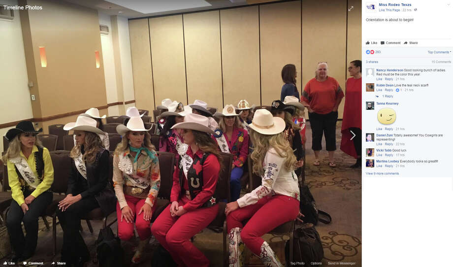 "Miss Rodeo Texas: ""Orientation is about to begin!"" Photo: Facebook/missrodeotexas"