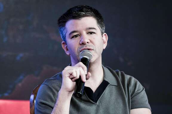 Travis Kalanick, co-founder and chief executive officer of Uber Technologies, speaks in New Delhi, India, on Dec. 16, 2016. MUST CREDIT: Bloomberg photo by Udit Kulshrestha.