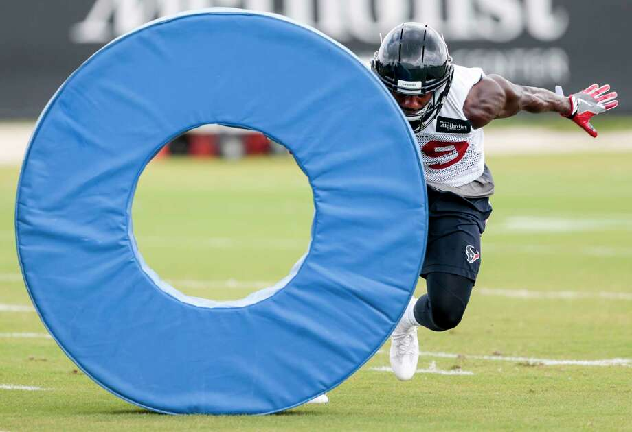 Houston Texans safety Andre Hal runs a drill during mini camp at The Methodist Training Center on Tuesday, June 13, 2017, in Houston. Photo: Brett Coomer, Houston Chronicle / © 2017 Houston Chronicle