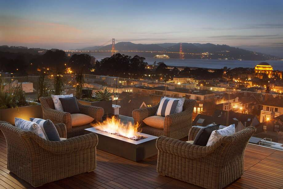 Shades of Green's 630-square-foot Pacific Heights rooftop garden. Photo: Paul Dyer