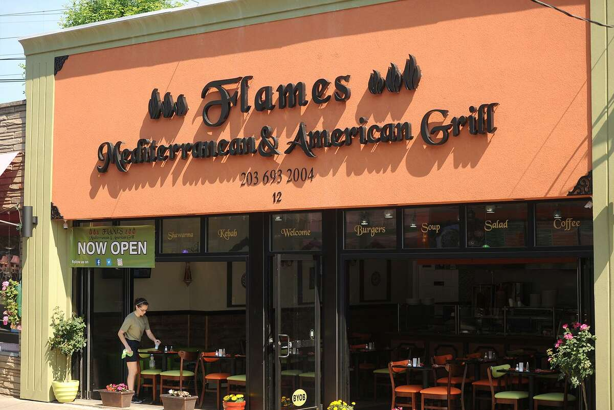 The new restaurant Flames Mediterranean & American Grill at 12 Daniel Street in Milford, Conn. on Tuesday, June 13, 2017.