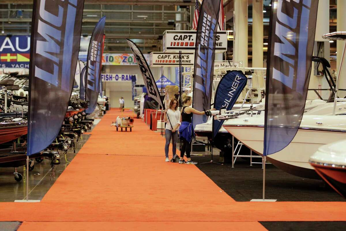 The summer boat show spotlights a variety of vessels, fishing gear and other merchandise.
