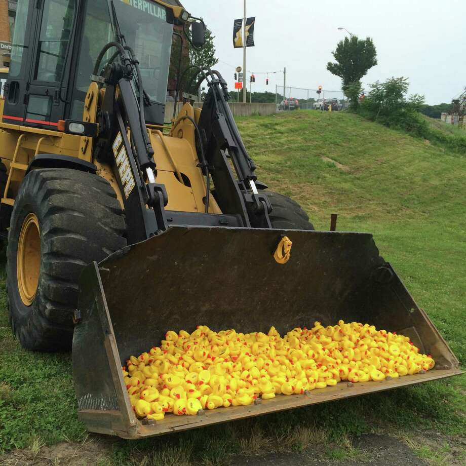 The Housy River Duck Race takes place on Saturday, June 24 at 2 p.m. starting at the Derby/Shelton Bridge on the Housatonic River. Photo courtesy of Area Congregations Together Spooner House. Photo: Contributed / Contributed