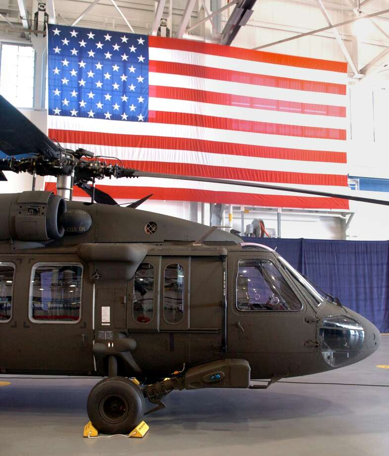 A new Sikorsky UH-60M Black Hawk Helicopter, which was delivered to the U.S. Army during a ceremony at Sikorsky Aircraft in Stratford in 2006. Photo: Ned Gerard / ST / Connecticut Post