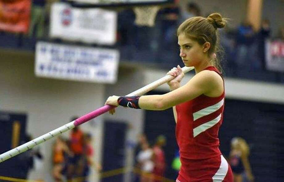 Greenwich High School junior Lia Zavattaro placed first in the pole vault event at the New England Championships last week. She will compete in the event at the New Balance Nationals Outdoor on Friday in Greensboro, N.C. Photo: Contributed
