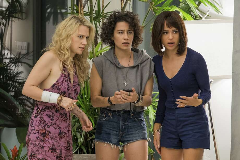 "This image released by Sony Pictures shows, from left, Kate McKinnon, Ilana Glazer and Zoe Kravitz in a scene from ""Rough Night."" (Macall Polay/Sony, Columbia Pictures via AP) Photo: Macall Polay, Associated Press"