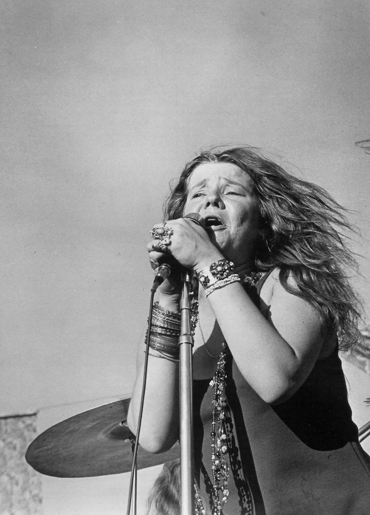 Singer Janis Joplin is shown at the San Jose Pop Festival in this undated file photo. Joplin was found dead at age 27 in her Hollywood hotel room on October 4, 1970.