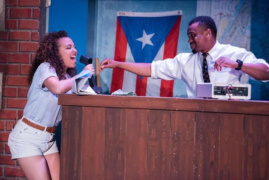 "From left:�Zinah Abraha as Nina and Dave Abrams as Benny in CCCT�s ""In the Heights."" Photo: Ben Krantz, Contra Costa Civic Theatre"