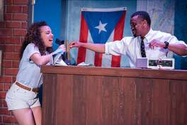 "From left:�Zinah Abraha as Nina and Dave Abrams as Benny in CCCT�s ""In the Heights."""