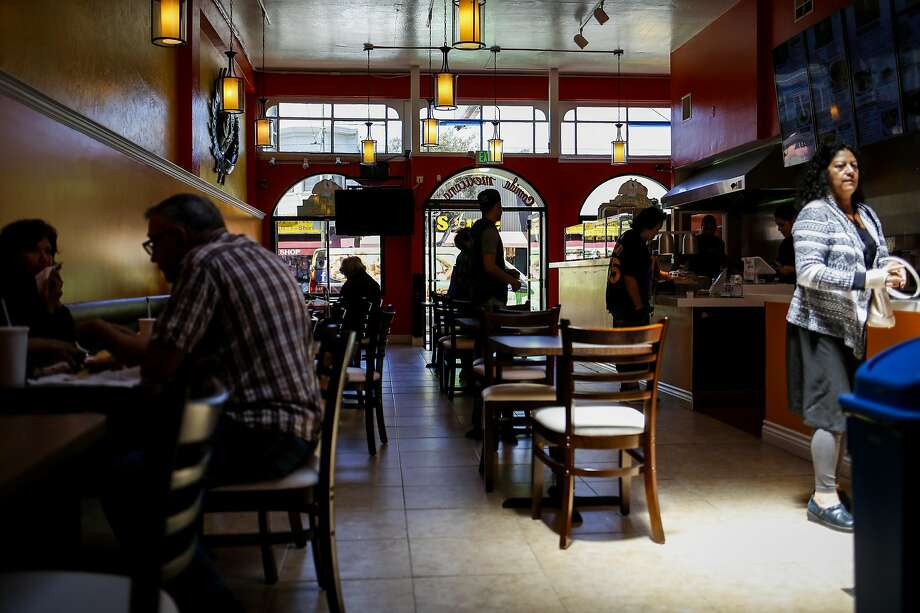 Lunch time at El Gran Taco Loco in its just-opened Excelsior location in S.F. Photo: Nicole Boliaux, The Chronicle
