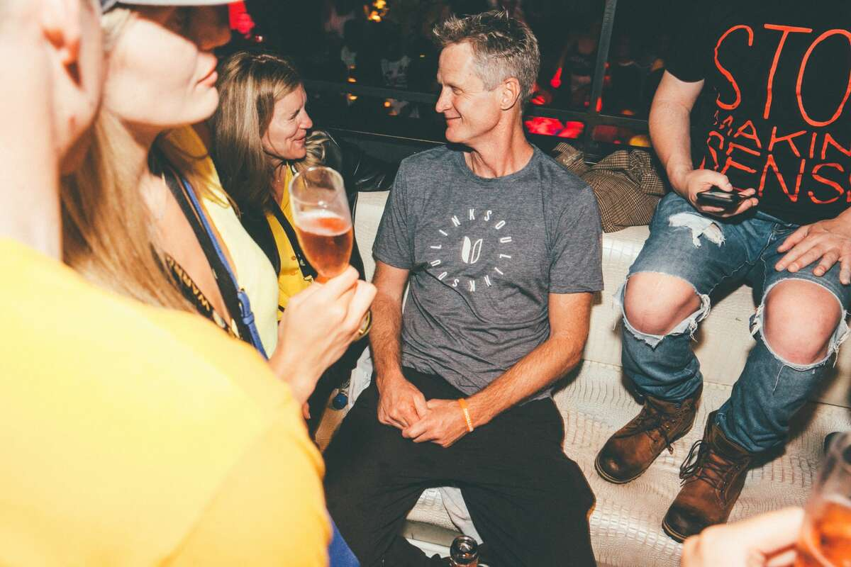 The Golden State Warriors and friends celebrated their NBA Finals win at SoMa's Harlot night club during the early morning hours of Tuesday, June 13, 2017.