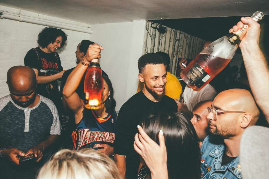 The Golden State Warriors and friends celebrated their NBA Finals win at SoMa's Harlot night club during the early morning hours of Tuesday, June 13, 2017. Photo: Photo Courtesy: Andrew Ho