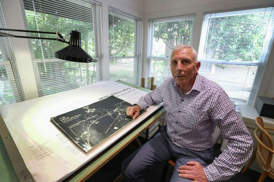 Steve McConathy, the Menil Collection's long-time manager of facilities, in his office beside the museum. Photo: Steve Gonzales, Houston Chronicle / © 2017 Houston Chronicle